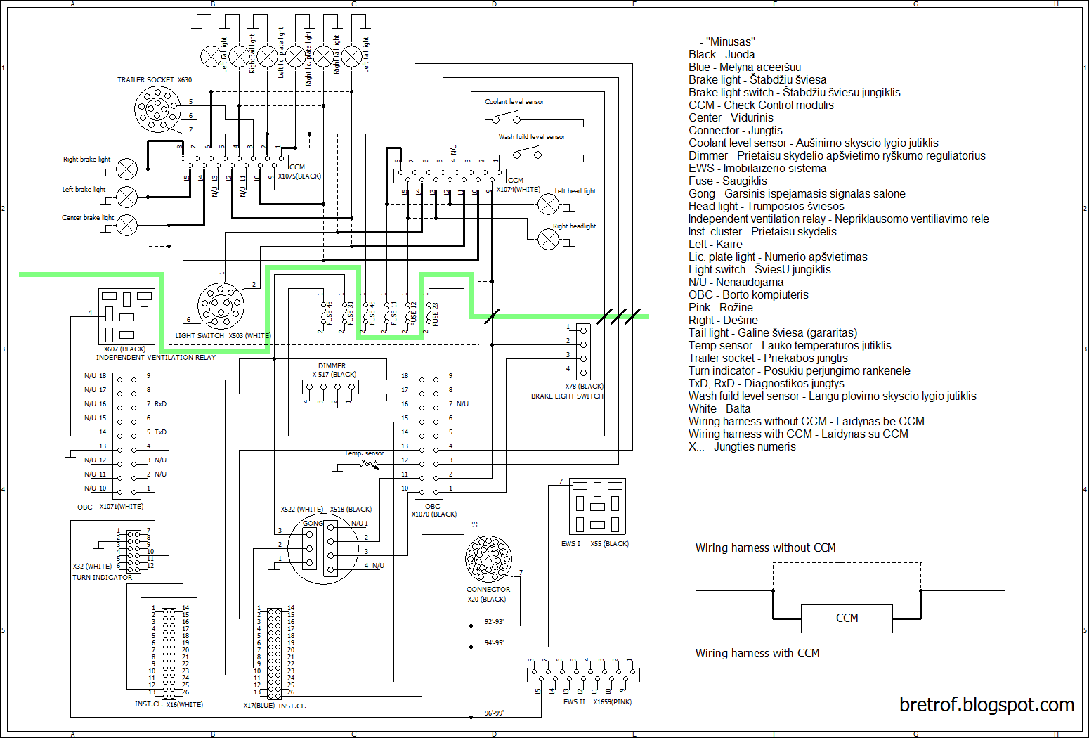 Wiring Diagram Besides Bmw E36 Tail Light Wiring Diagram On Bmw E46