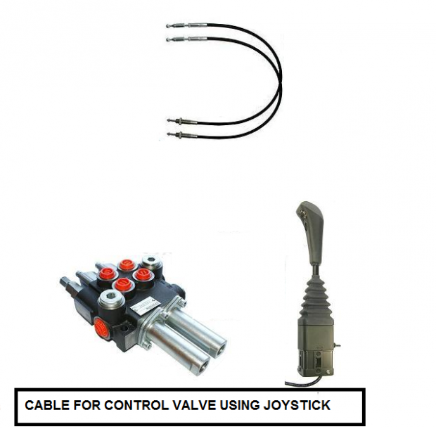 Tractor Joystick And Cables : Cable for joystick hydraulic valve meters john