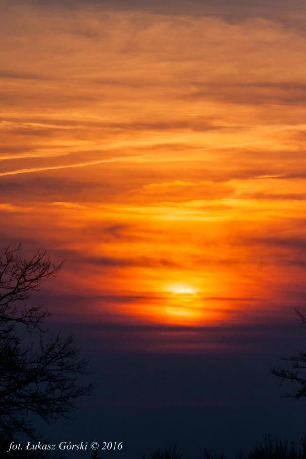 Zachód słońca #zachód #słońca #chmury #niebo #Chojnice