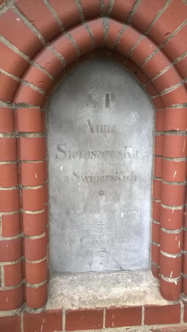 Anna Sieroszewska z Świniarskich x24.06.1788 +6.06.1854