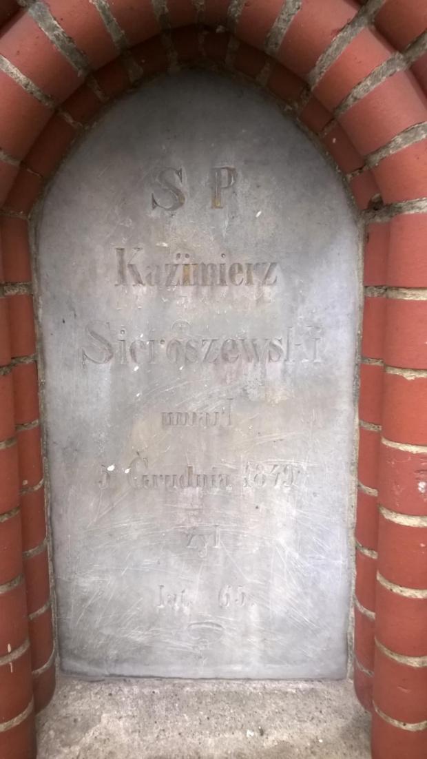 Kazimierz Sieroszewski umarł grudnia 1849 żył lat 65