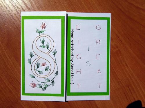 Obrazki z szycia wzięte - na podstawie wzoru ze stitchingcards.com (litery) i pinbroidery.net (cyfry) i